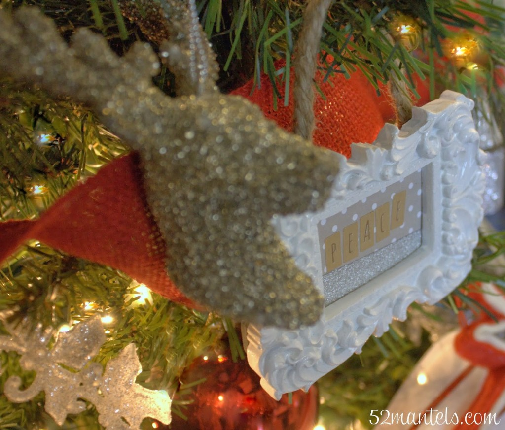 Easy Picture Frame Ornaments - 52 Mantels - Lines Across