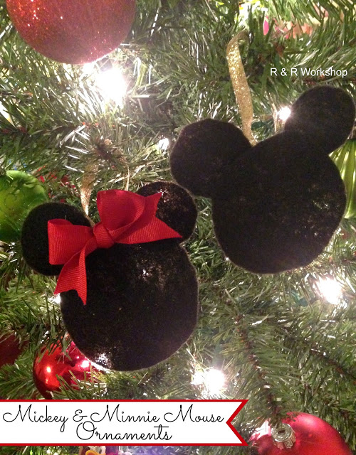 Mickey and Minnie Mouse Ornaments – R & R Workshop