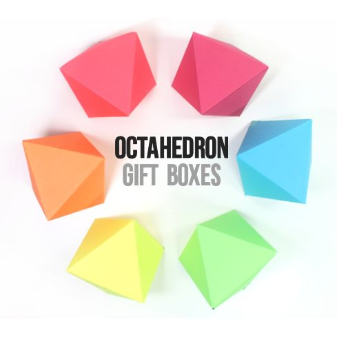 DIY Diamond Gift Boxes with Free Printable Octahedron Templates – Templates for Gift Boxes