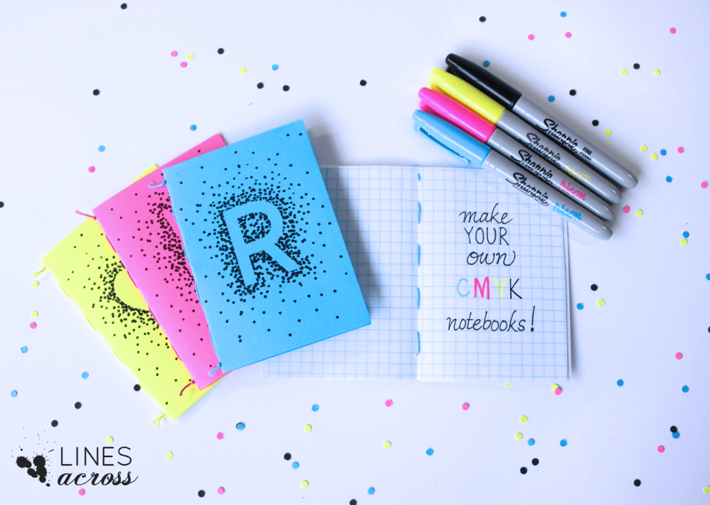 Colorful Sharpie Designs Notebook