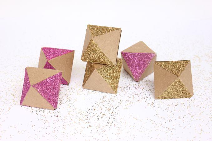 Glittery Geometric GarlandLines Across