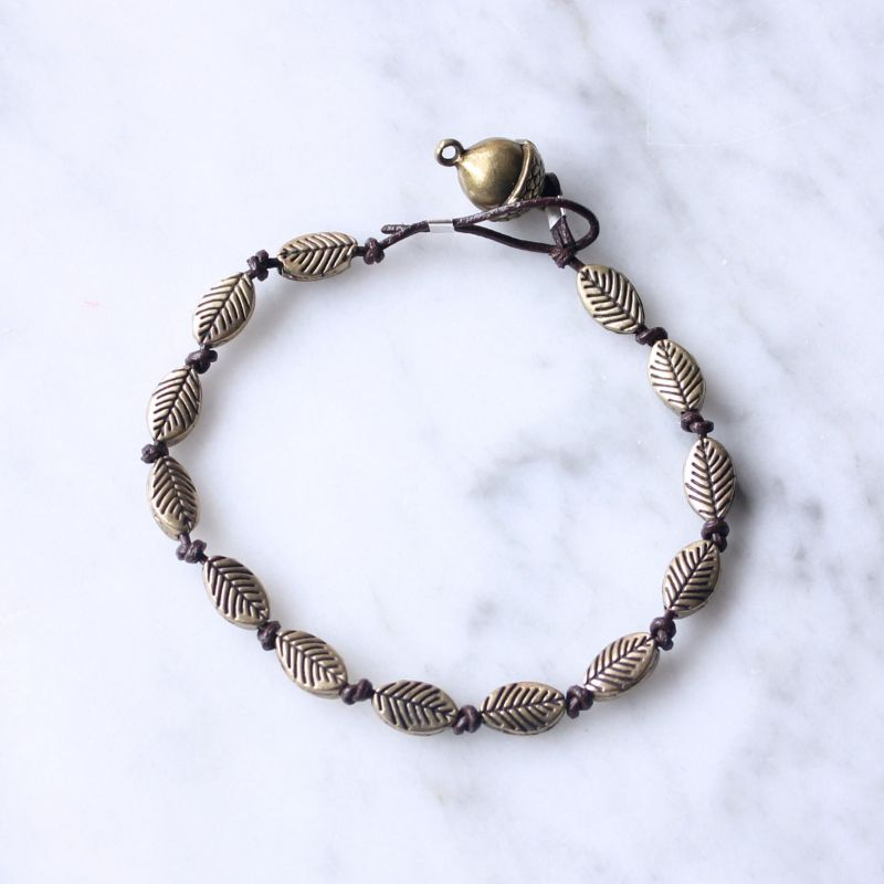 DIY Leather and Bronze Bracelet