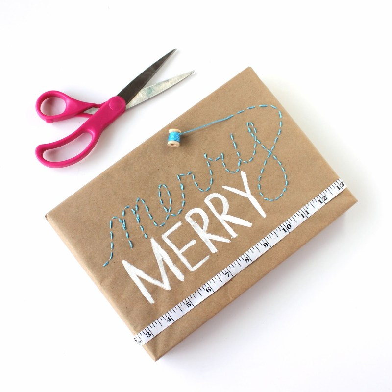 Embroidered Gift Wrap and 24 Kraft Paper Wrapping Ideas