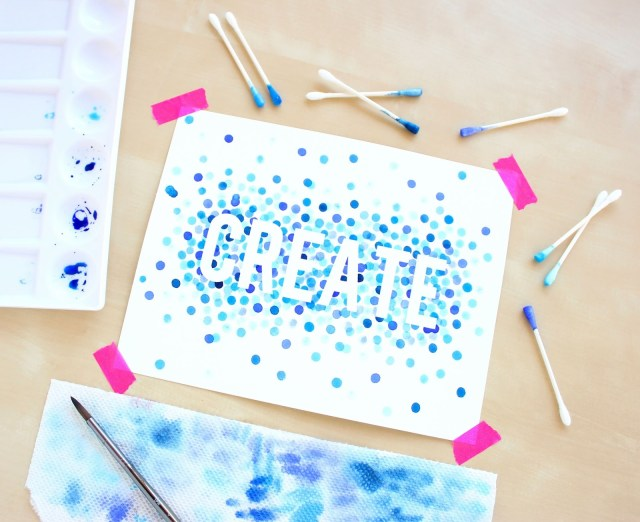 Watercolor for beginners 4 polka dot art lines across for Diy crafts for beginners