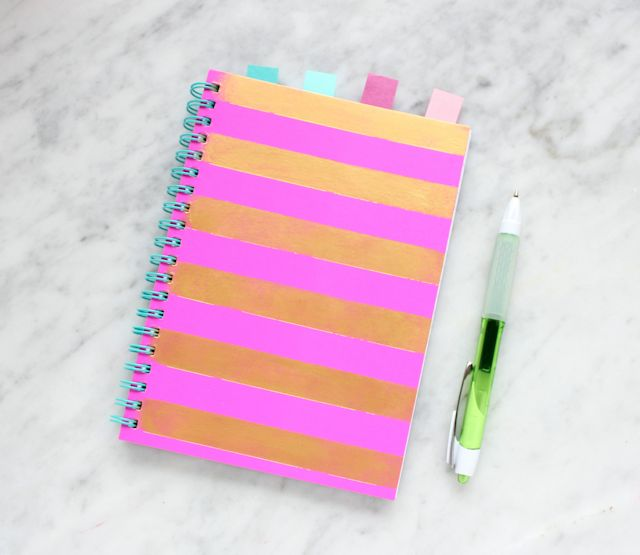 striped notebook @linesacross
