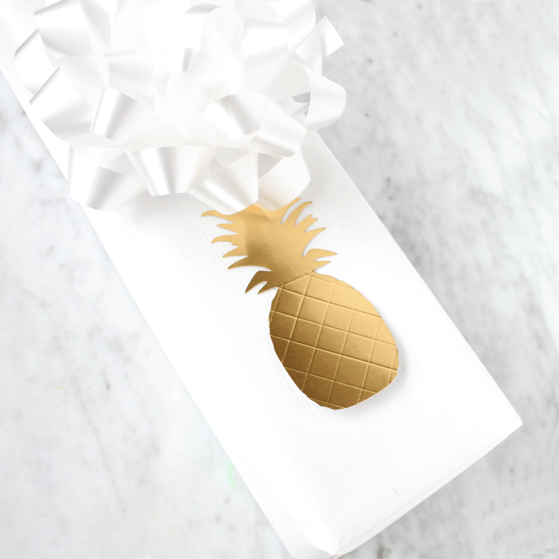 Gold Pineapple Gift Tags 3