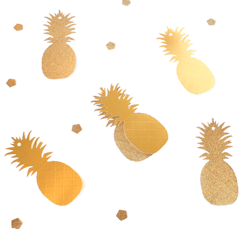 Gold Pineapple Gift Tags 6