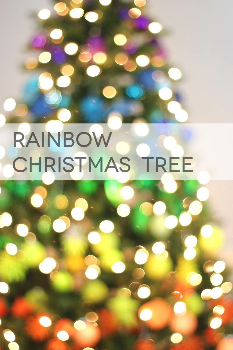 Rainbow Christmas Tree - Bokeh