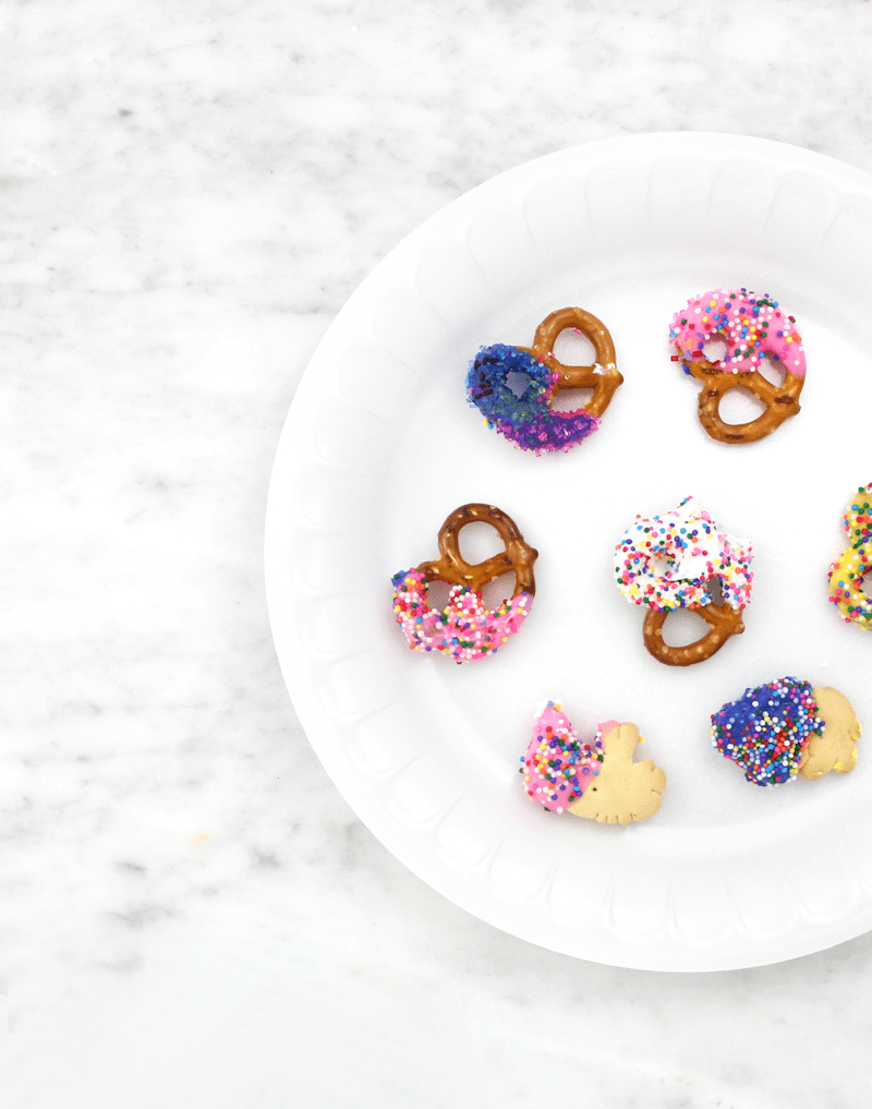 Colorful Pretzels DIY - a fun activity to do with kids