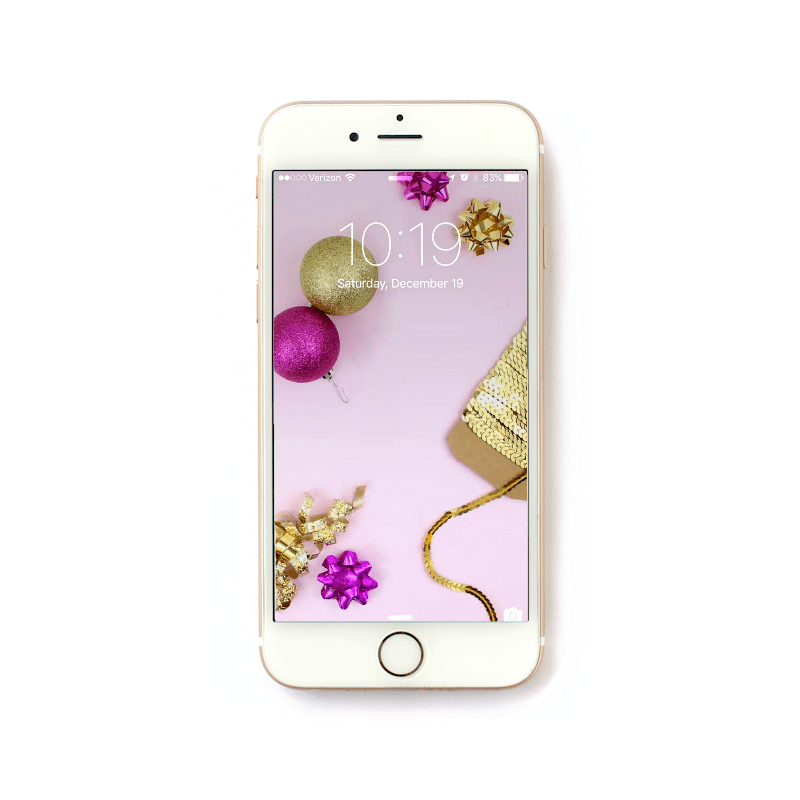 Pink and Gold Christmas iPhone Wallpaper by @linesacross