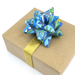 Turn Coloring Pages into Gift Bows