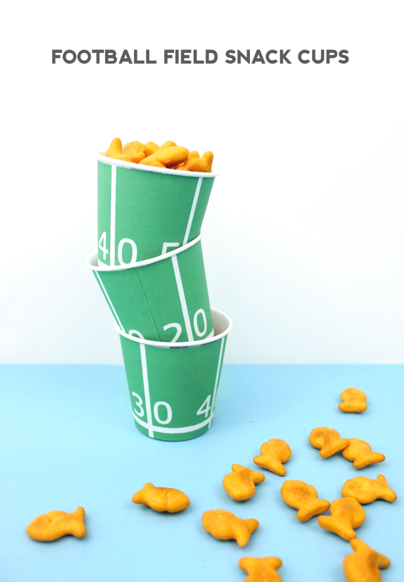 Football Field Snack Cups