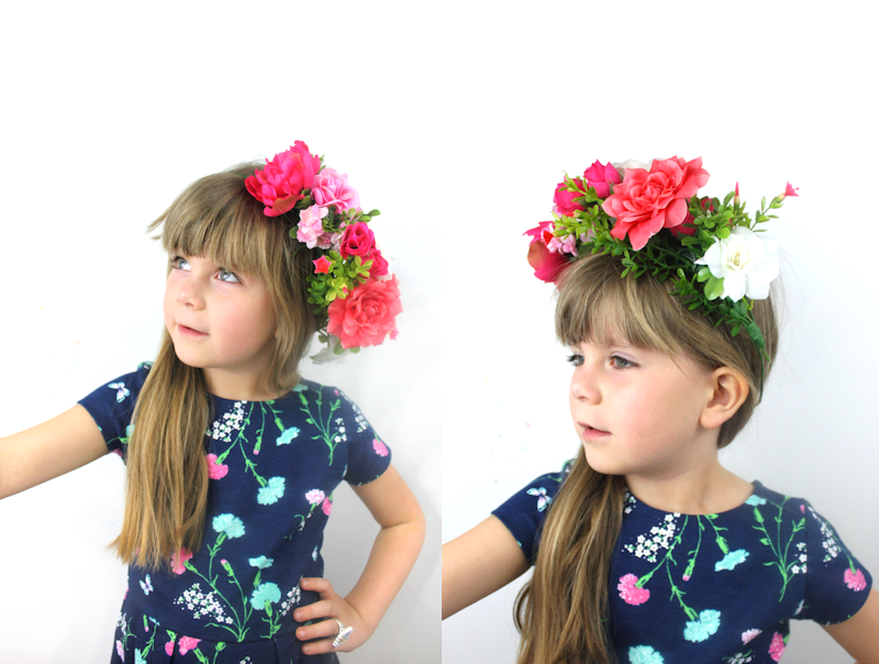 Handmade Floral Crown - fake flowers