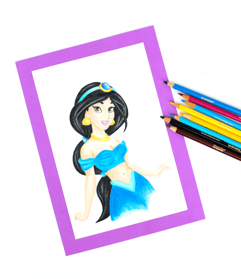 Jasmine - Disney Princess Crayola Drawing