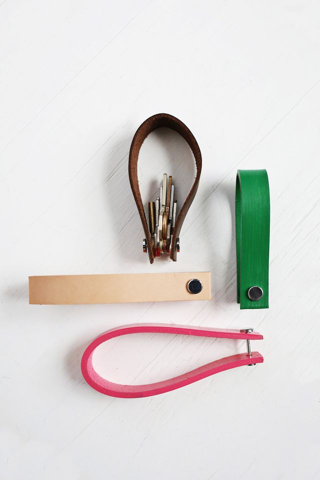 leather key chain gift