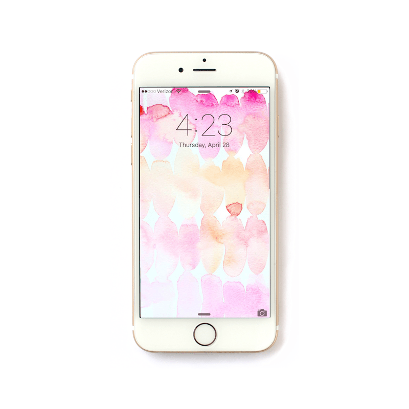 Freebie Friday – Watercolor iPhone Wallpaper