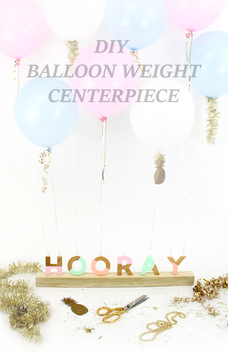 How to make your own balloon weight centerpiece. Such a fun party craft.