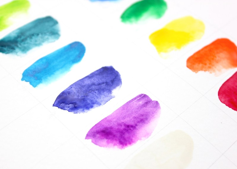 6 - watercolor paint swatch