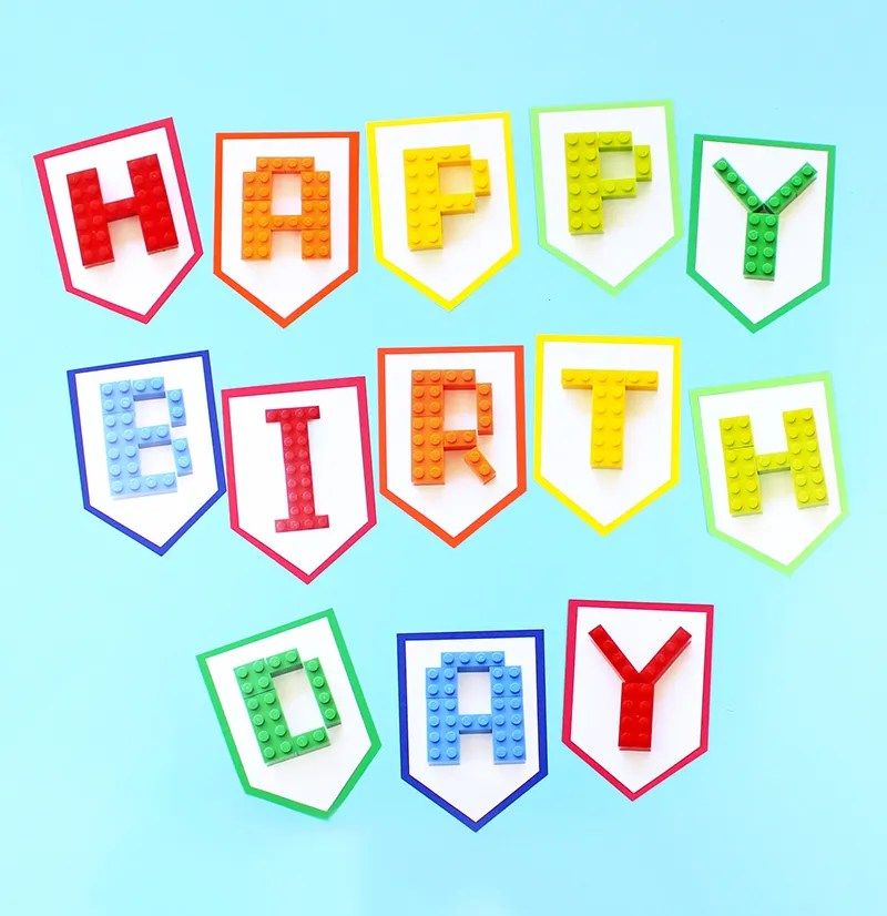 Free Printable Lego Birthday Banner