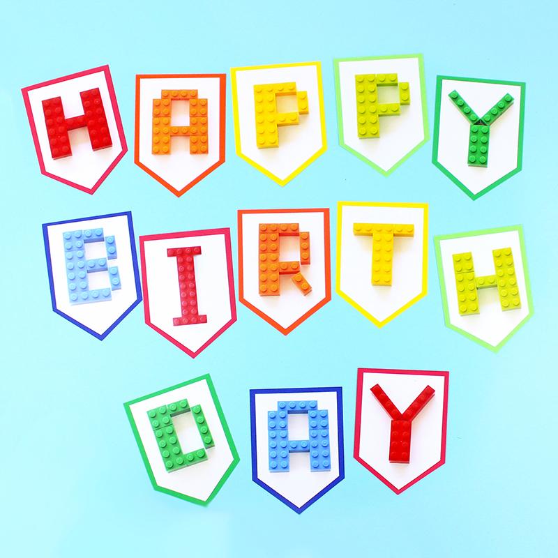 Building Block Birthday Party Banner
