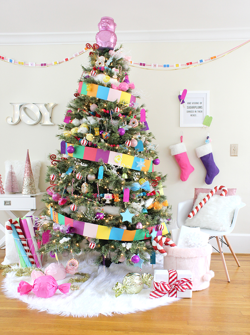 Candy Land Christmas Tree - Lines Across