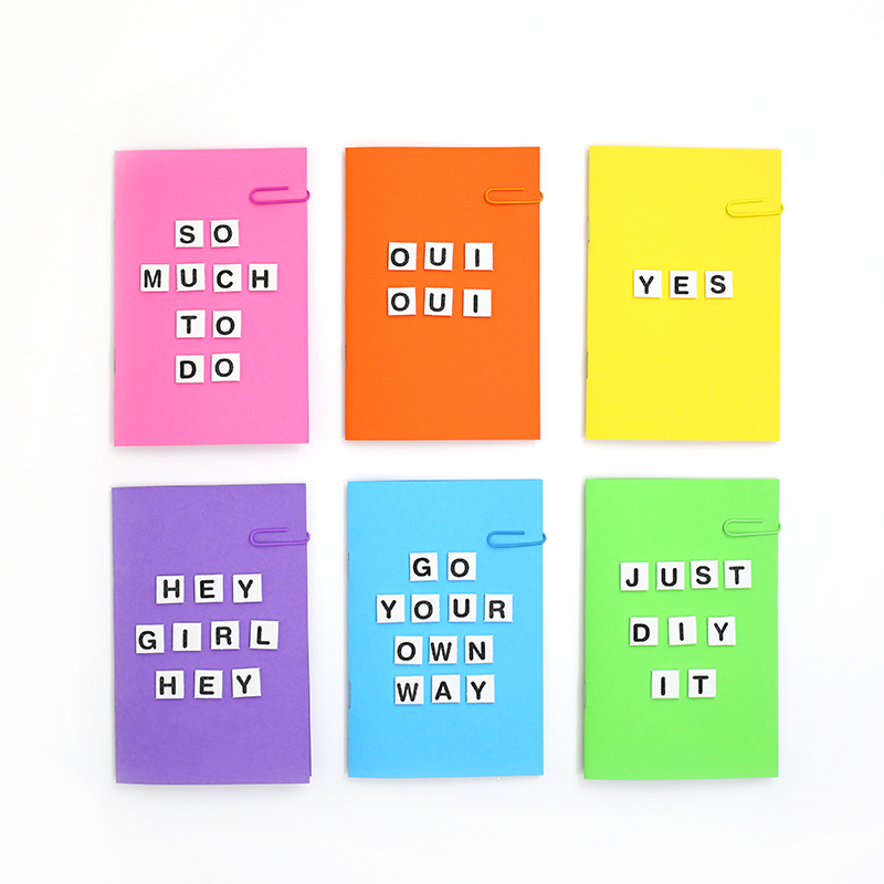 2 - Rainbow of Colorful DIY Notebooks @linesacross