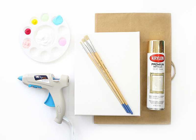 DIY Gold Textured Canvas - Step 1 - Supplies