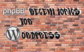 PHPbb Recent Topics Logo