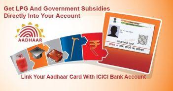 Link Aadhaar Card With ICICI Bank Account