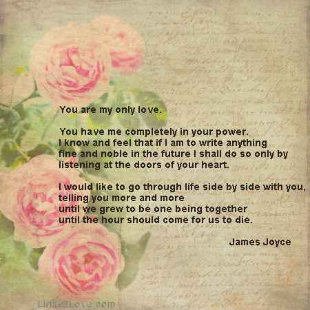 Classic Love Letters, James Joyce, Romantic Love Letters - romantic love letters