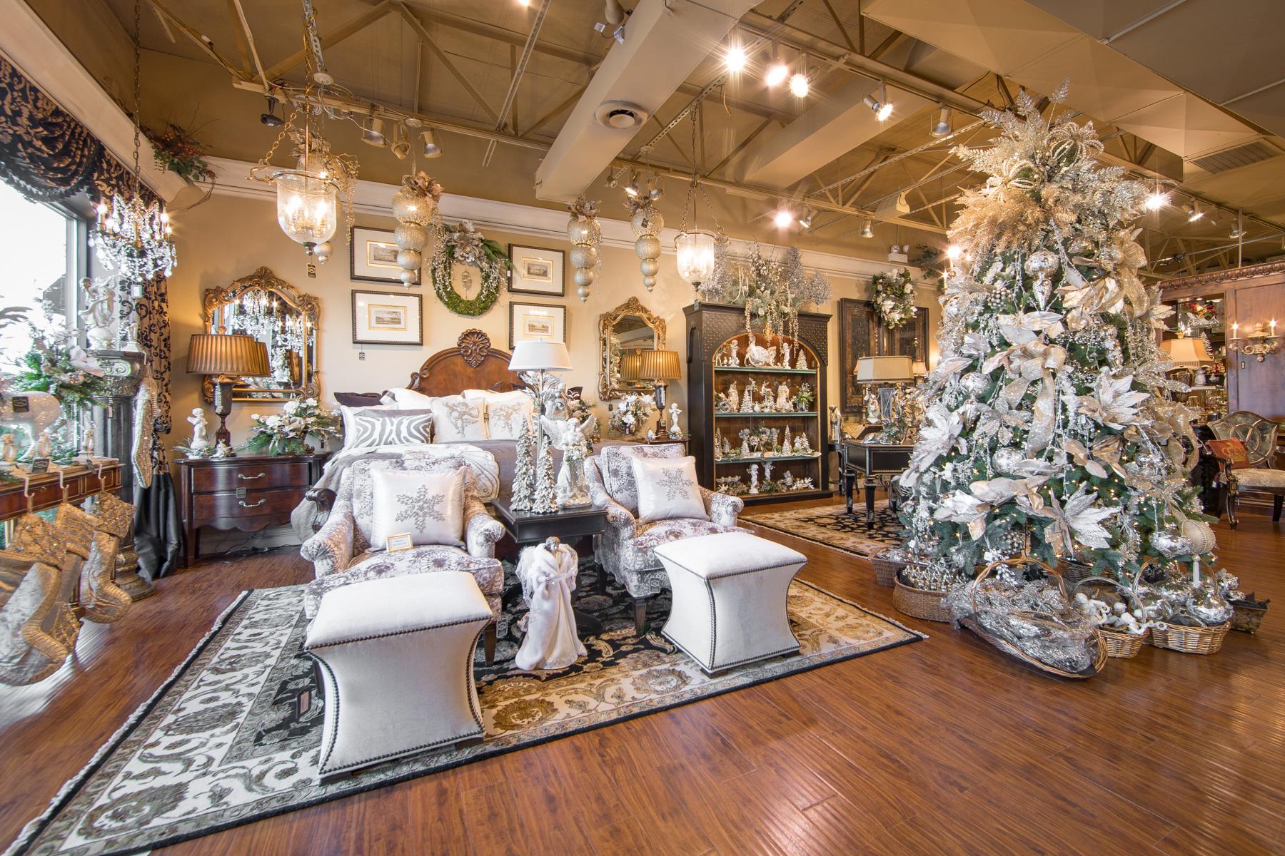 Luxury christmas decorating and decor