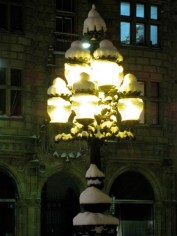 Lanterns in snow hats, Stockholm