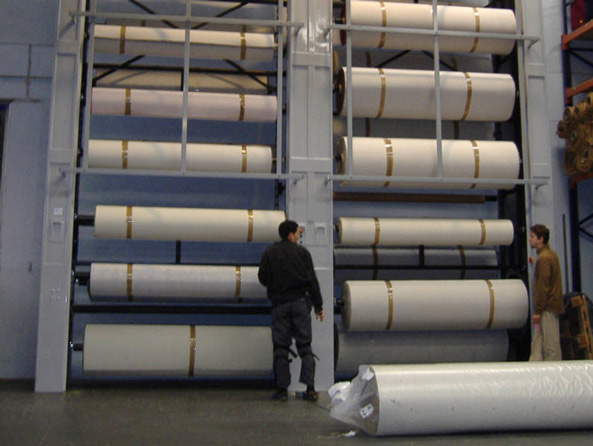 Vertical Storage Carousels For Rolls And Spools