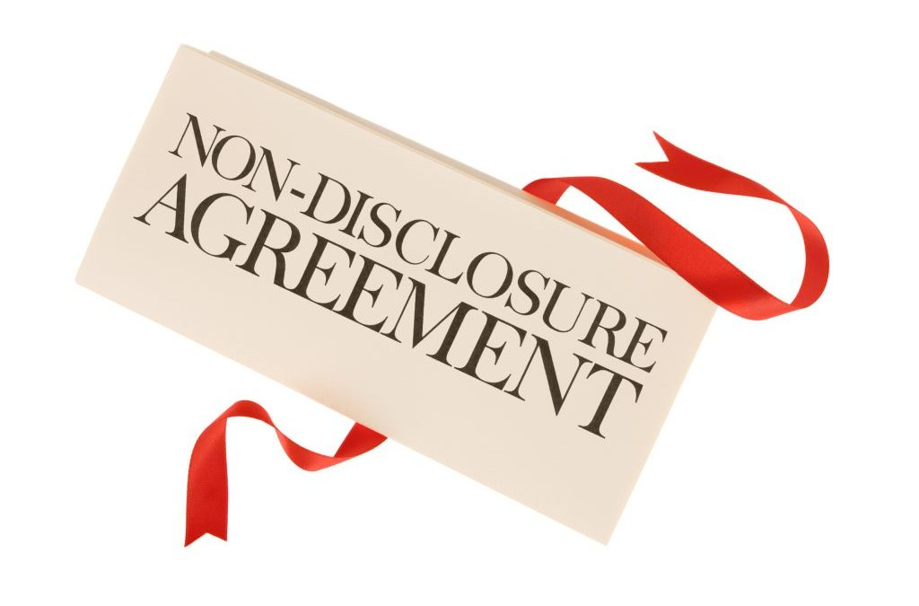 Why sign a non-disclosure agreement?