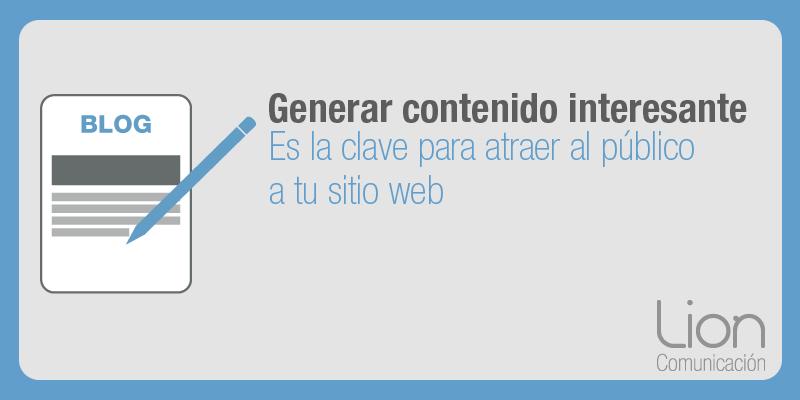 Lion Comunicación: Diseño, gestión y generación de contenido en blogs