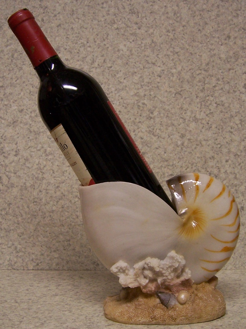 Wine Bottle Holder And Or Decorative Sculpture Seashell
