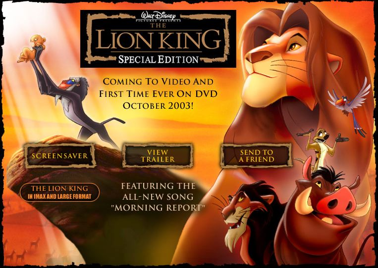 the lion king special edition vhs 2003