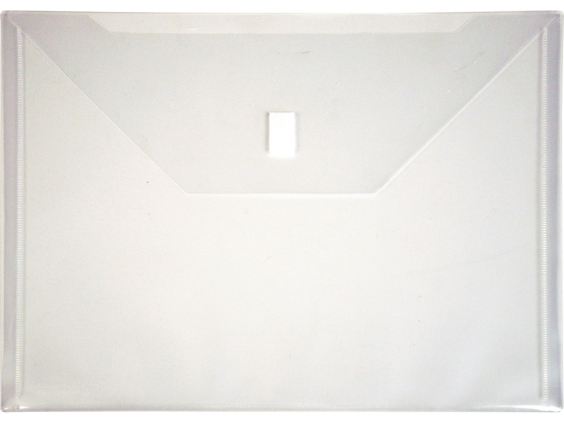 Clear Plastic Envelope with Velcro, Letter Size Envelope