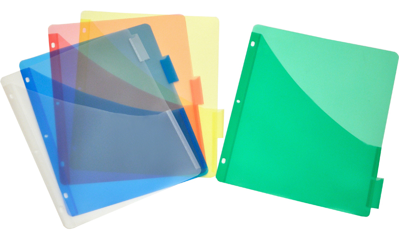 Plastic Pocket Dividers, 5-tab, Single Pocket