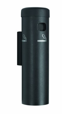 Black Wall Mounted Cigarette Receptacles - LionsDeal