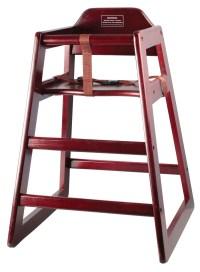 Mahogany Finish Stacking Hi-Chair (Knocked-Down) - LionsDeal