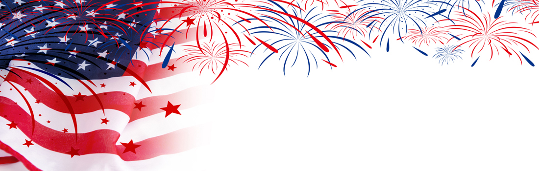 USA flag with fireworks on white background - Lion\u0027s Share Federal