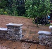 Terrasse und Weg, Betonstein