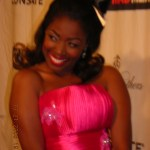 Donielle Artese (Sheila White) flirts with fans at the Mad Men Revue