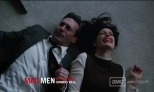 Mad Men Far Away Places: Don and Megan on the floor