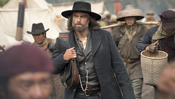 Hell on Wheels episode 4.13: Cullen arrives at the Central Pacific