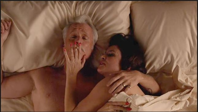 Roger Marie smoking bed