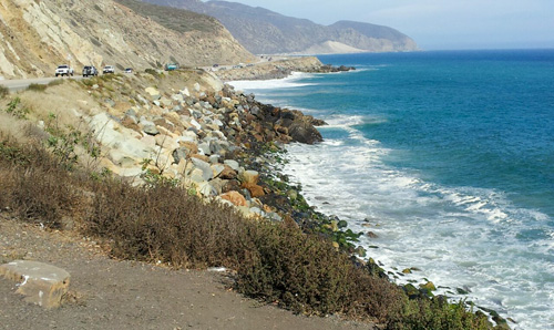 Coastline along the Pacific Ocean