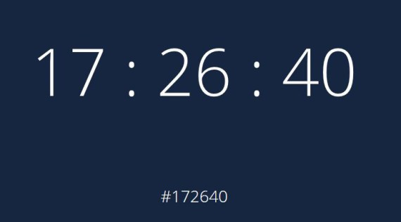 24-hour clock displaying 17:26:40