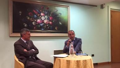 L'incontro al Rotary club di Frosinone con Tersigni e Macioce